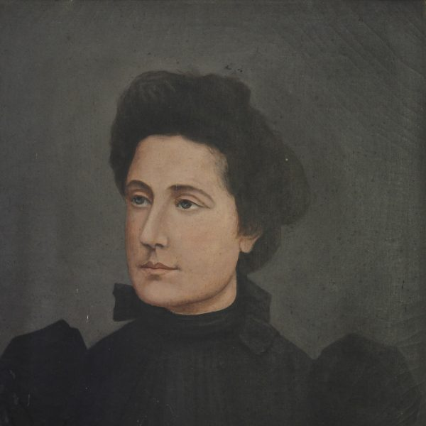 19th century French oil portrait of a lady
