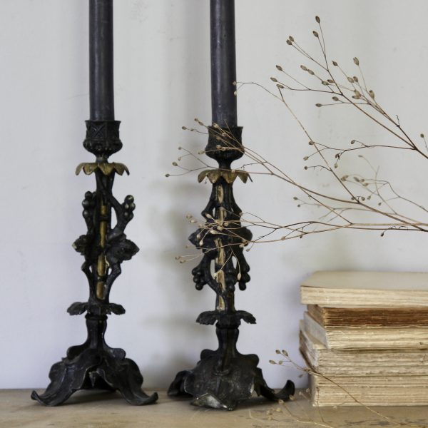 Pair of late 19th century French candlestick