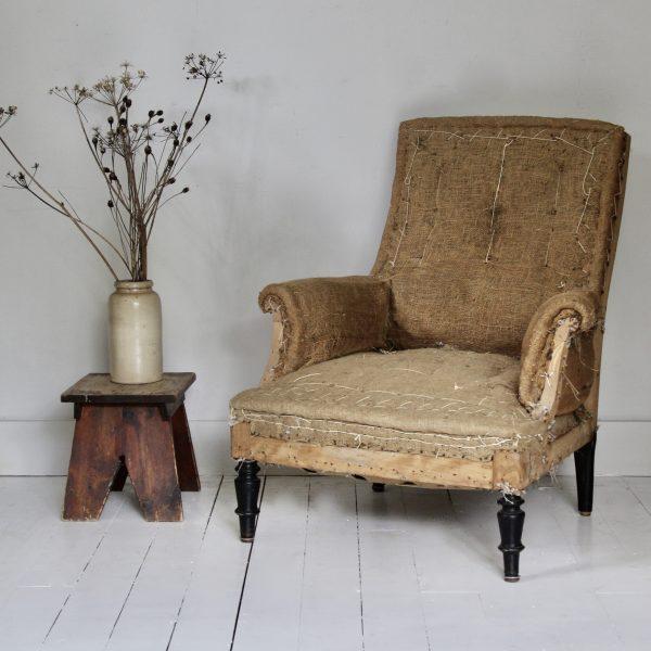French Napoleon III armchair