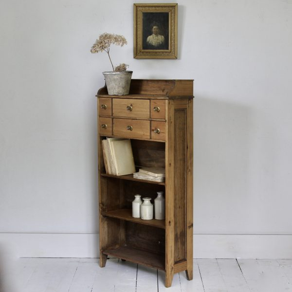 Unusual antique pine drawers and shelves