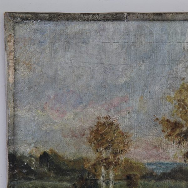 Landscape painting, oil on canvas, dated 1920