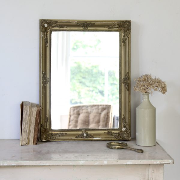 Turn of the century French gilt mirror