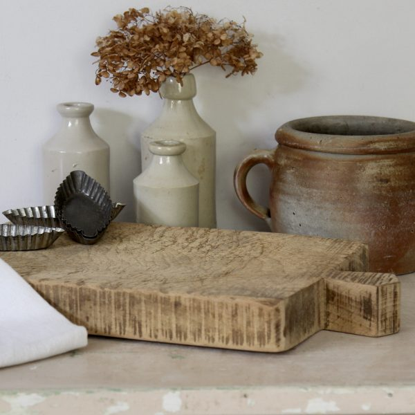 Antique French wooden chopping board, circa 1890