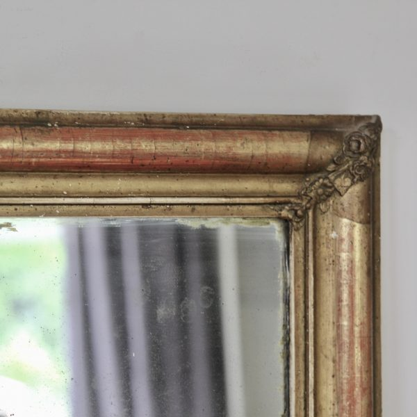 French gilt and gesso mirror, circa 1850