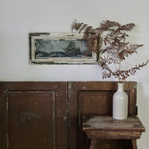 Charming vintage framed seascape, oil on board
